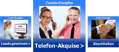 Die zweite Disziplin ist Telefon-Akquise