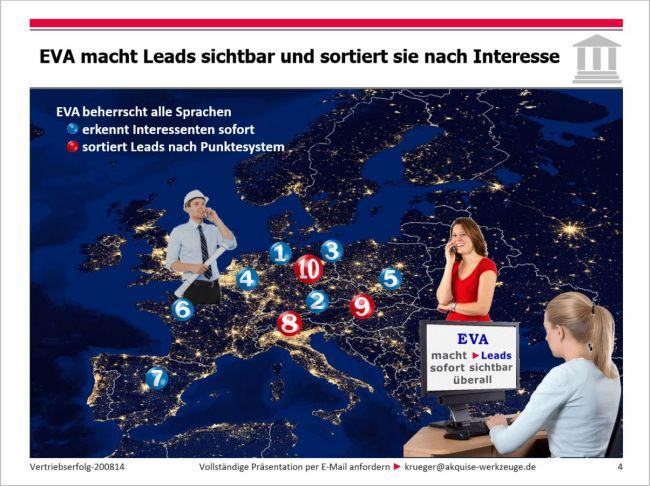 EVA macht Leads sichtbar | www.akquise-werkzeuge.de | Leadmanagement