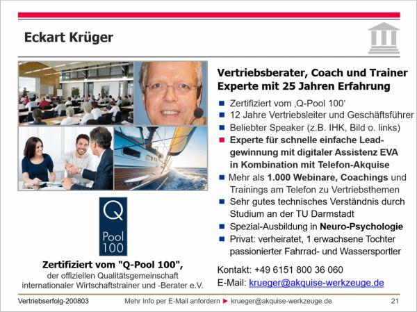 Eckart Krüger: 25 Jahre Erfahrung in Leadgewinnung und Telefonakquise